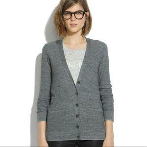 Madewell Gray Button Up Cardigan XSmall